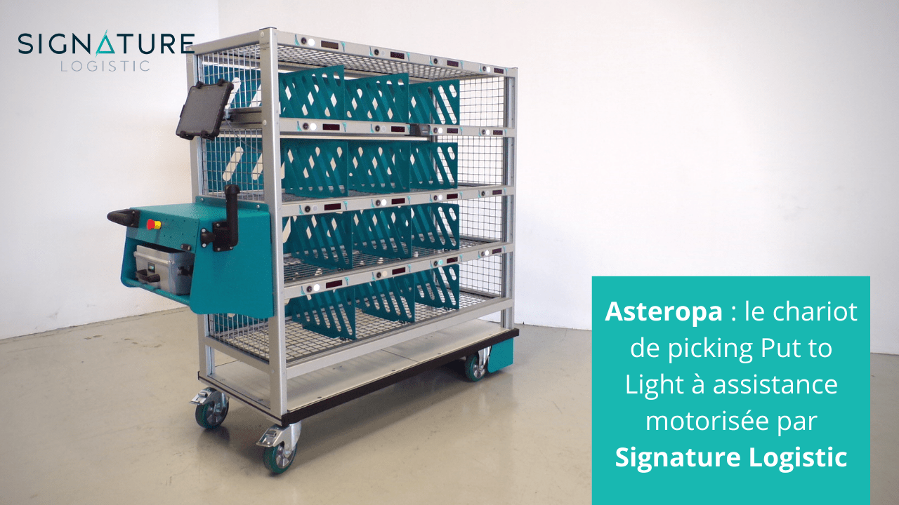 Asteropa : chariot Put to Light à assistance motorisée